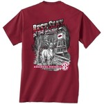 New World Graphics Men's University of Arkansas Best Seat T-shirt