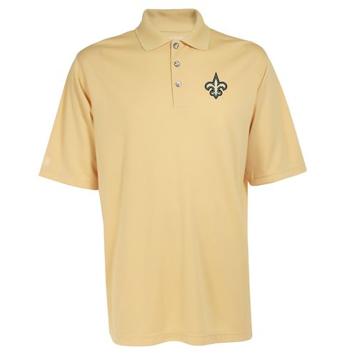 Antigua Men's New Orleans Saints Exceed Polo Shirt