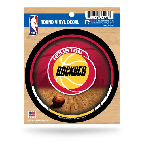Rico Houston Rockets Retro Logo Round Decal