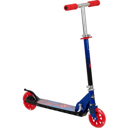 Huffy Boys' Marvel Spider-Man Folding In-Line Scooter with Light-Up Wheels