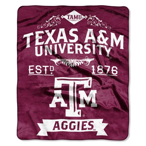 The Northwest Company Texas A&M University Label Raschel Throw
