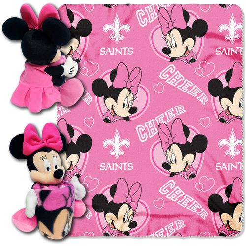 The Northwest Company New Orleans Saints Minnie Mouse Hugger and Fleece Throw Set - view number 1