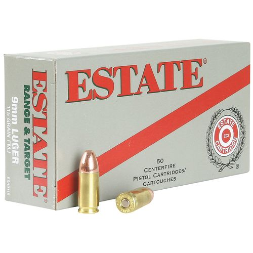 Estate Cartridge Full Metal Jacket 9mm 115-Grain Centerfire Pistol Ammunition