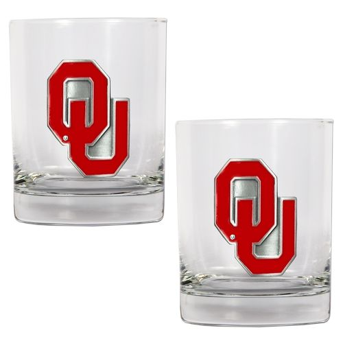 Great American Products University of Oklahoma 14 oz. Rocks Glasses 2-Pack