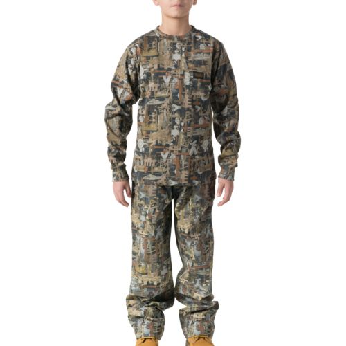 Walls Kids' Oilfield Camo Long Sleeve Pocket T-shirt
