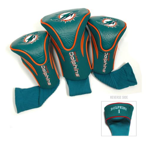 Team Golf Miami Dolphins Contour Sock Head Covers 3-Pack