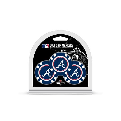 Team Golf Atlanta Braves Poker Chip and Golf Ball Marker Set