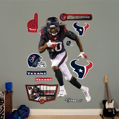 Fathead Houston Texans DeAndre Hopkins Home Real Big Wall Decal