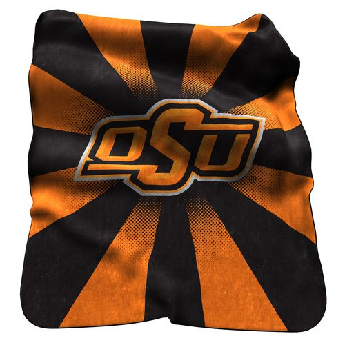 Logo Oklahoma State University Raschel Throw