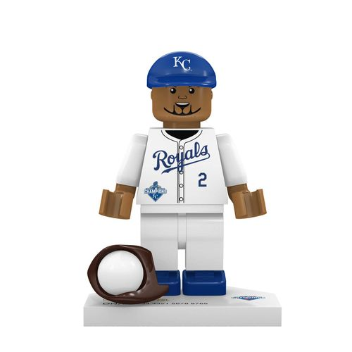 OYO Sports Kansas City Royals Alcides Escobar World Series Champions Minifigure