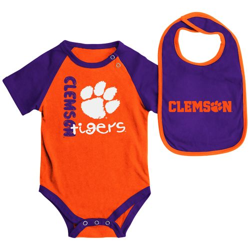 Colosseum Athletics Infants' Clemson University Rookie Onesie and Bib Set