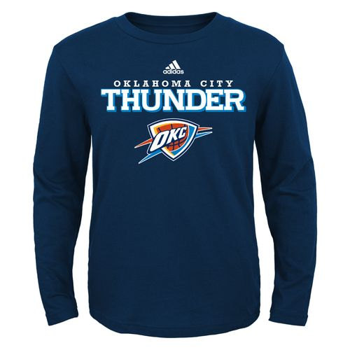 adidas™ Boys' Oklahoma City Thunder Long Sleeve T-shirt