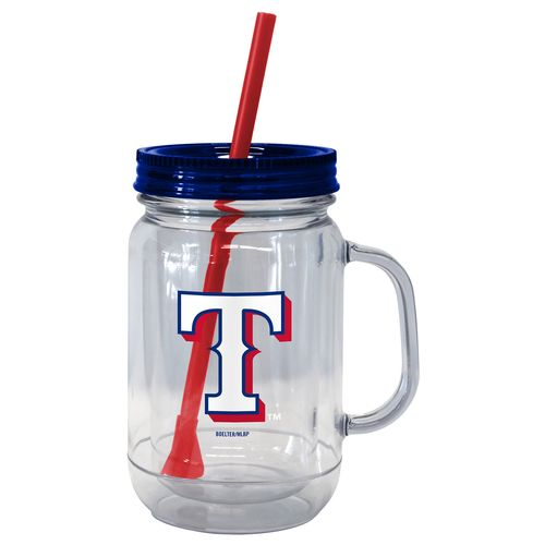 Boelter Brands Texas Rangers 20 oz. Handled Straw Tumblers 2-Pack