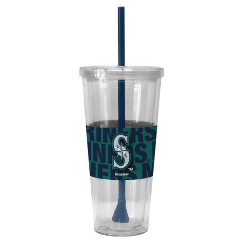 Boelter Brands Seattle Mariners Bold Neo Sleeve 22 oz. Straw Tumblers 2-Pack