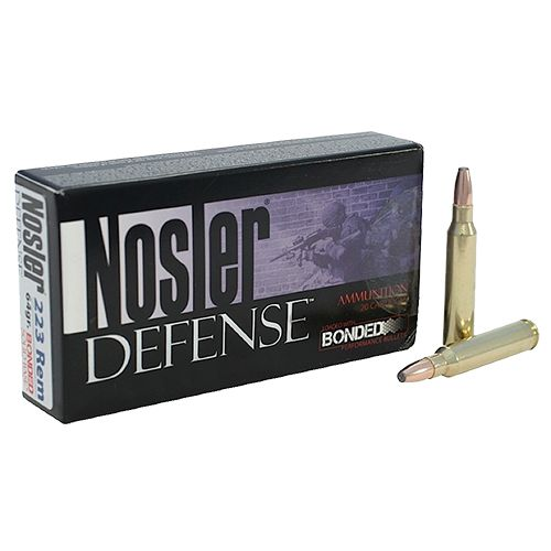 Nosler Defense Performance .223 Remington/5.56 NATO 64-Grain Bonded Centerfire Rifle Ammunition