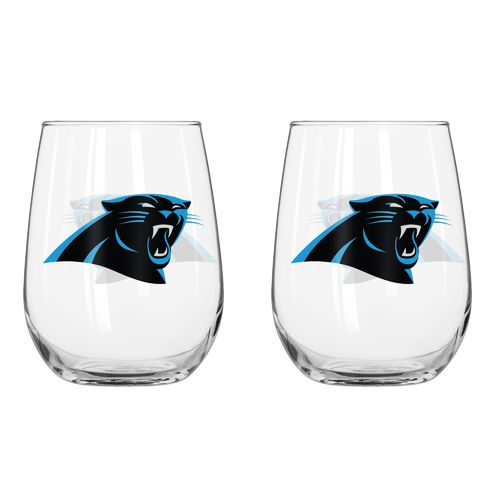 Boelter Brands Carolina Panthers 16 oz. Curved Beverage Glasses 2-Pack