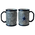 Boelter Brands Dallas Cowboys Stone Wall 15 oz. Coffee Mugs 2-Pack
