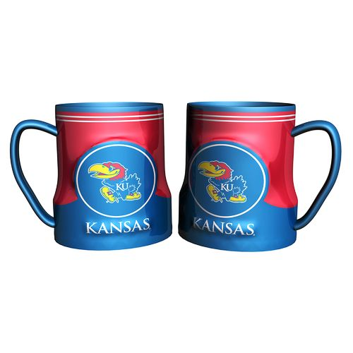Boelter Brands University of Kansas Gametime 18 oz. Mugs 2-Pack