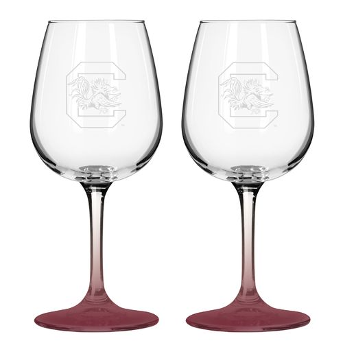 Boelter Brands University of South Carolina 12 oz. Wine Glasses 2-Pack