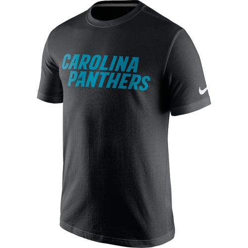 Nike Men's Carolina Panthers Cotton Essential Wordmark T-shirt