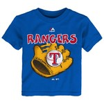 Majestic Toddler Boys' Texas Rangers Baseball Mitt Short Sleeve T-shirt