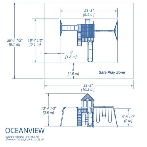 Backyard Discovery™ Oceanview Wooden Swing Set - view number 2