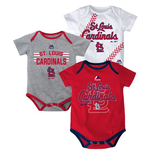Majestic Infants' St. Louis Cardinals Bodysuits 3-Pack