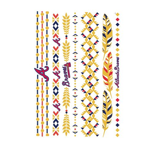 Lulu DK Atlanta Braves Jewelry Flash Tattoos