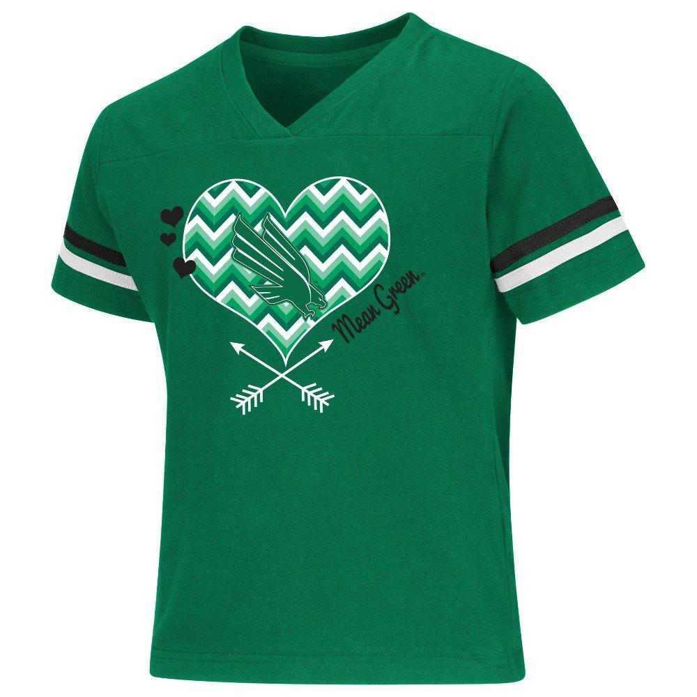 Colosseum Athletics Girls' University of North Texas Football Fan T-shirt