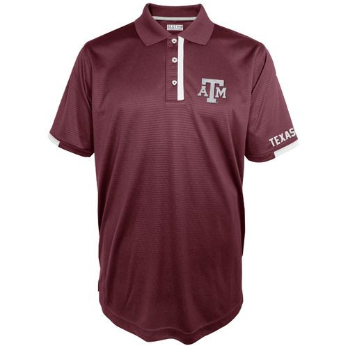 Majestic Men's Texas A&M University Section 101 First Down Polo Shirt