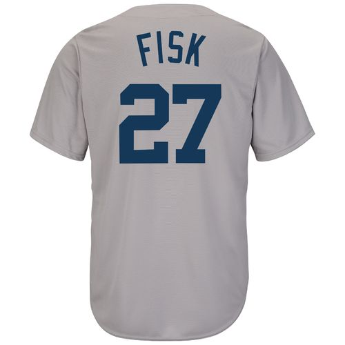 Majestic Men's Boston Red Sox Carlton Fisk #27 Cooperstown Cool Base 1969 Replica Jersey