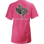 Three Squared Juniors' University of North Texas Preppy Paisley T-shirt