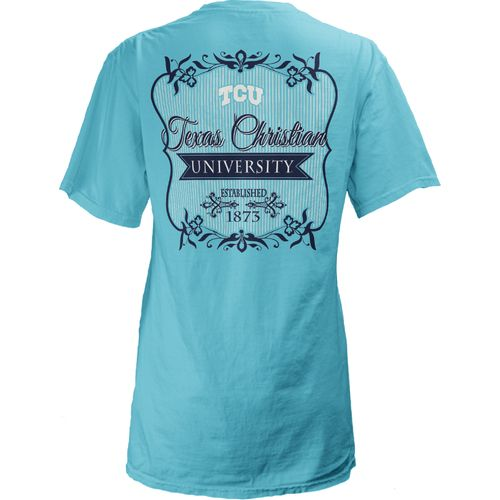Three Squared Juniors' Texas Christian University Flora T-shirt