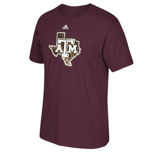 adidas™ Men's Texas A&M University Hunted Logo T-shirt