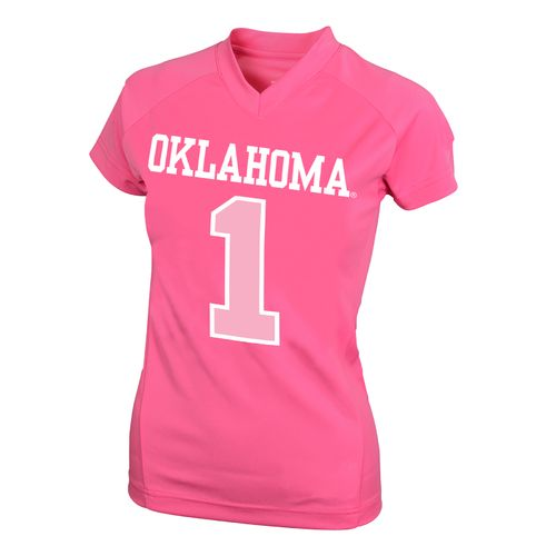 NCAA Kids' University of Oklahoma #1 Perf Player T-shirt