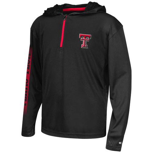 Colosseum Athletics™ Boys' Texas Tech University Sleet 1/4 Zip Hoodie Windshirt