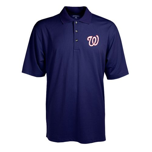 Antigua Men's Washington Nationals Phoenix Pointelle Polo Shirt