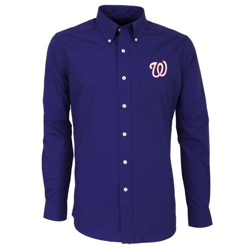 Antigua Men's Washington Nationals Dynasty Long Sleeve Button Down Shirt