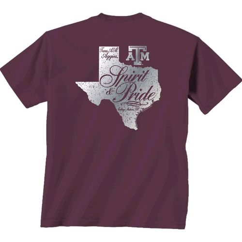 New World Graphics Women's Texas A&M University Silver State Distress T-shirt