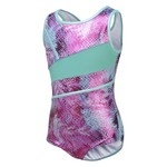 Capezio® Girls' Future Star Printed Leotard with Front Strapping