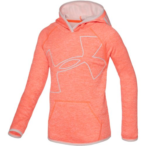 Under Armour Girls' Storm Armour Fleece Novelty Big Logo Hoodie
