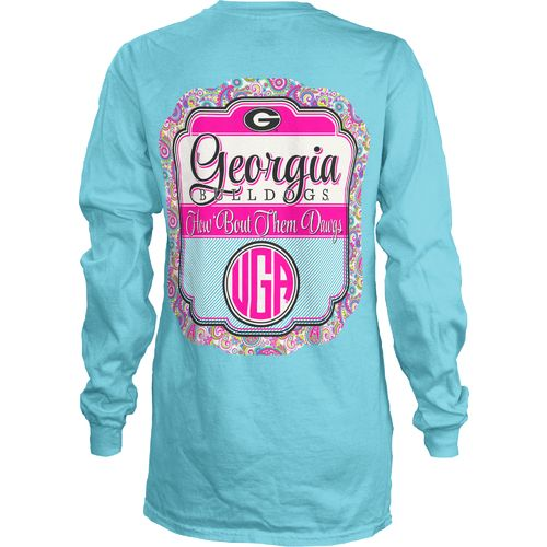 Three Squared Juniors' University of Georgia Paisley Frame T-shirt