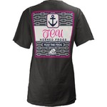 Three Squared Juniors' Texas Christian University Knotty Tide T-shirt