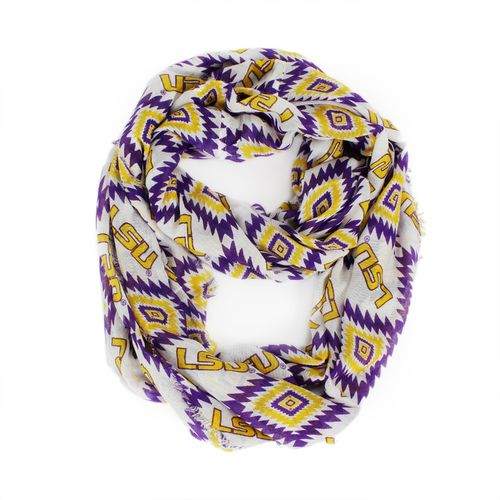 ZooZatz Women's Louisiana State University Southwest Infinity Scarf