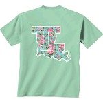 New World Graphics Women's Louisiana Tech University Floral T-shirt