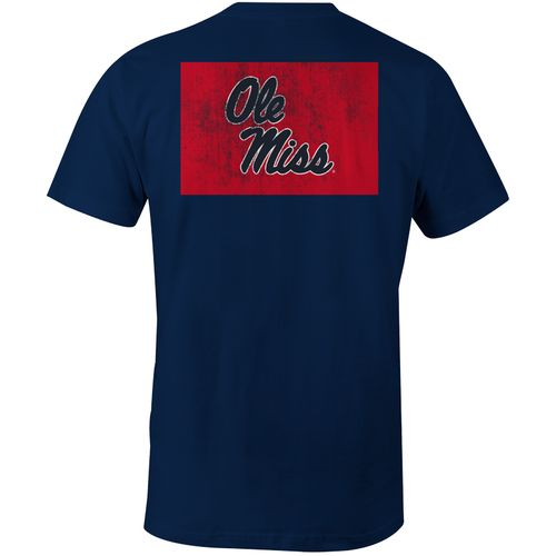 Image One Men's University of Mississippi State Flag Comfort Color T-shirt