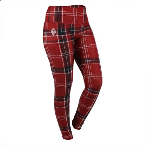 ZooZatz Women's University of Oklahoma Tartan Plaid Legging