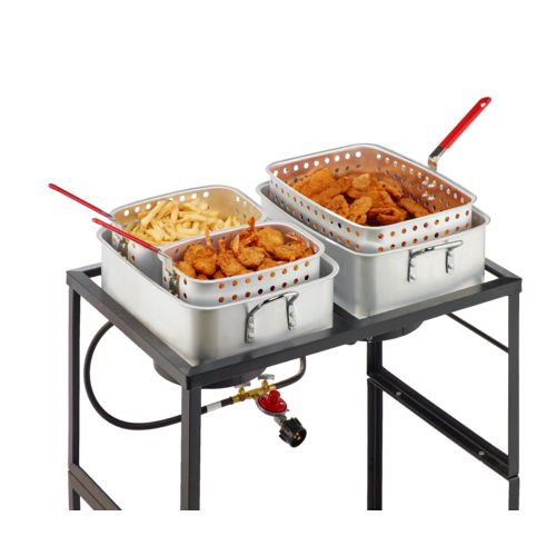Outdoor gourmet propane fish fry cart academy for Fish cooker burner