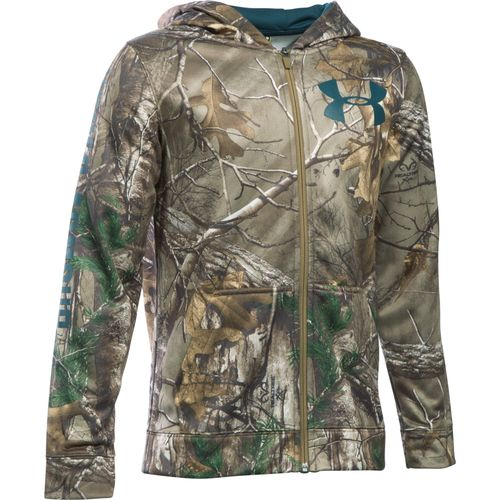 Under Armour Boys' Fleece Icon Camo Full Zip Hoodie