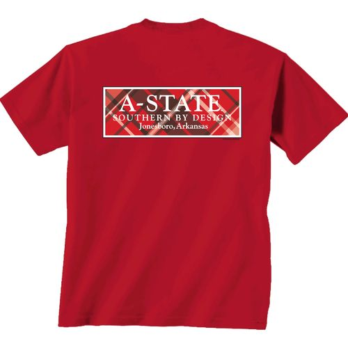 New World Graphics Women's Arkansas State University Team Madras T-shirt